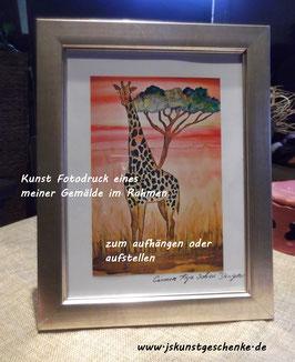 "Kunst-Fotodruck ""Afrika"" im Rahmen"