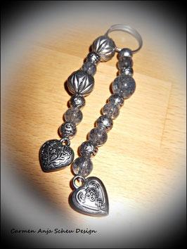"""Taschen- oder Schlüsselanhänger """"2 Herzen"""""""