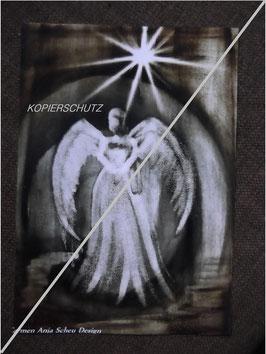 """Fotodruck """"SCHUTZENGEL"""" ca. DIN4 (schwarz/weiss/ rundum sepia)"""