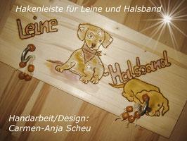 Holzhalter für Leine & Halsband
