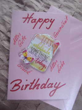 "Klappkarte mit Umschlag ""Happy Birthday"""