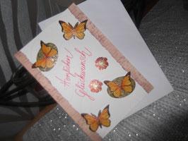 """Klappkarte mit Umschlag """"Herzlichen Glückwunsch"""""""