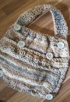 Handgefertigte Tasche & Kette EDELWEISS gratis dazu
