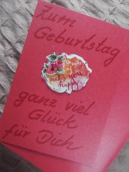 """Klappkarte mit Umschlag """"Zum Geburtstag ganz viel Glück für Dich"""""""