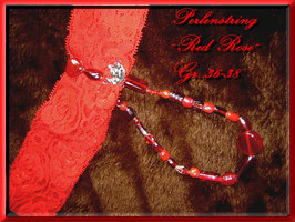 "Perlenstring ""RED ROSE"""