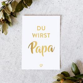 """Karte """"Papa"""" / Gold"""