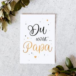 """Karte """"Papa"""" Gold"""