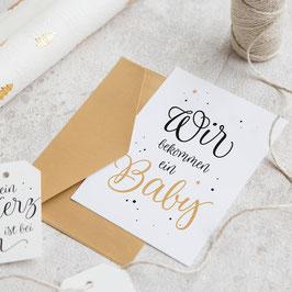 "Karte ""Baby"" Gold"