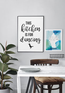 This kitchen is for dancing | Poster