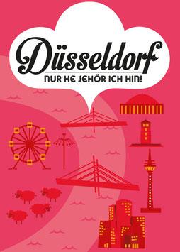 Düsseldorf / Nur he jehör ich hin! | Postkarte