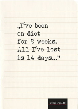 I've been on diet ... | Postkarte