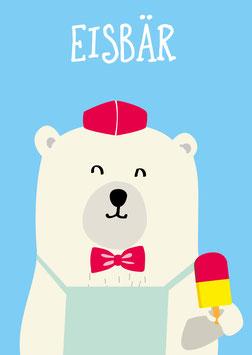 Poster A4 - Eisbär