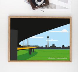 Düsseldorfer Rhein-Kniebrücke   Poster