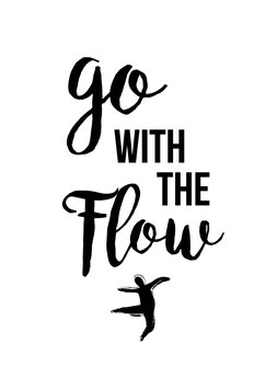 go with the Flow | Postkarte