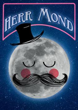 Herr Mond | Postkarte