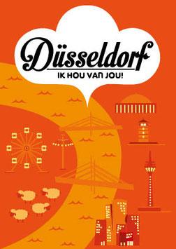 Düsseldorf, Ik hou van jou! | Postkarte