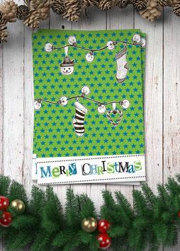 Merry Christmas / grün | Postkarte