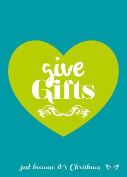Give gifts | Postkarte