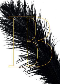"""Poster - """"B"""" mit Feder"""