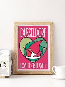 Düsseldorf / Love it or leave it | Postkarte