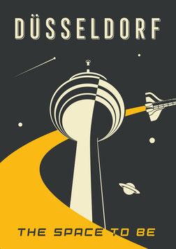 Düsseldorf, The SPACE to be   Postkarte