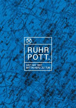 Poster - Ruhrpott Landkarte