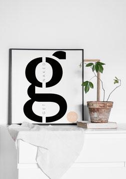 Get naked  | Poster
