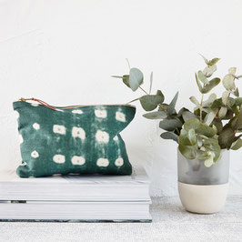 Cosmetic Bag | Dots Green