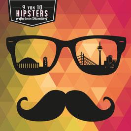 Düsseldorf / Hipster quadratisch | Postkarte