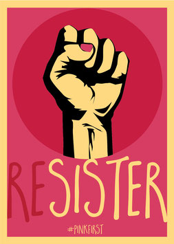 Resister / #Pinkfirst | Postkarte