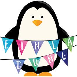 Einladung / Pinguin | Einladungskarte