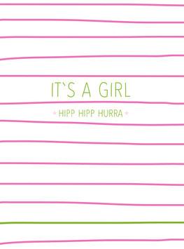 It's a girl | Postkarte