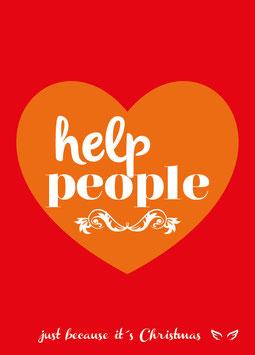 Help people | Postkarte