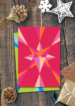 Tannenbaum grafisch / pink | Postkarte