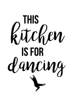 This kitchen is for dancing | Postkarte