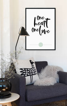 Poster - 'One Heart, one Love, one Soul'
