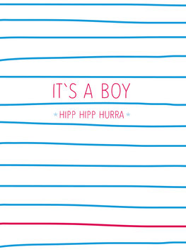 It's a boy | Postkarte