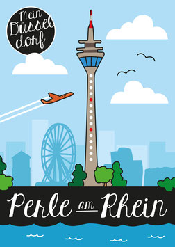 Poster- Düsseldorf, du Perle am Rhein