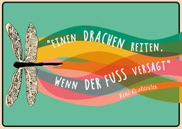 Einen Drachen reiten... | Postkarte