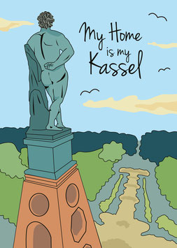 Kassel | My Home is my Kassel | Poster DIN A4
