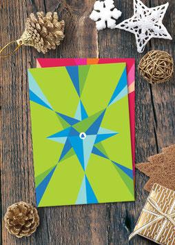 Tannenbaum grafisch / grün | Postkarte