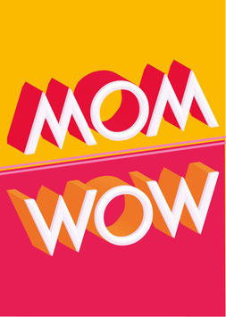 MOM / WOW | Postkarte