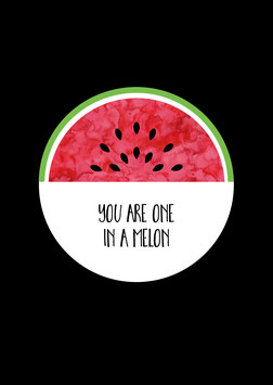 One in a melon | Postkarte