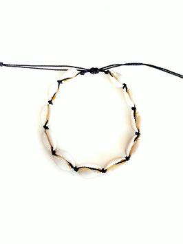 CAURI - Bracelet de cheville coquillages