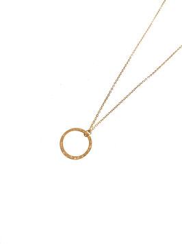 [ EPUISE ] LOA mini- collier doré anneau martelé