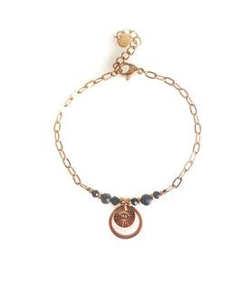 ROY noir - bracelet doré
