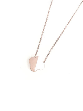 LUCK - collier doré rose trèfle