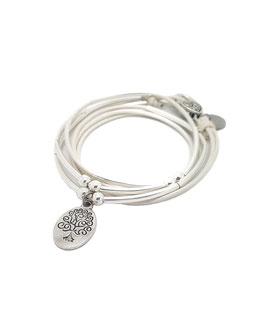 FAMILLE blanc ♥ Bracelet en cuir arbre de vie