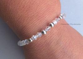 Bracelet en cristal de Swarovski de couleur cristal.