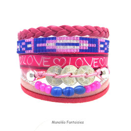 Bracelet BELLA fuchsia